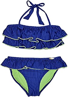 JESSICA SIMPSON Cherokee Queen Print Tankini Blue 2pc Swim Suit NEW GIRLS 12 16