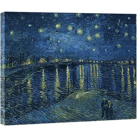 Amazon.com: Wieco Art Starry Night Canvas Print of Van Gogh Oil ...