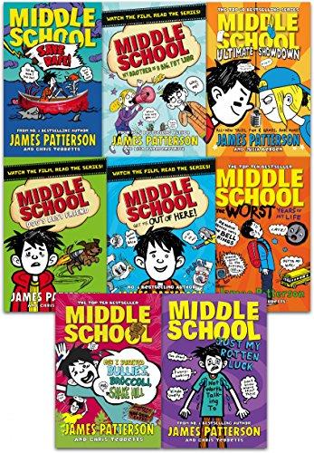 James Patterson Middle School Collection 8 Books Set