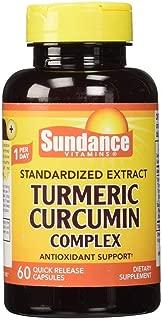 Sundance Turmeric Curcumin Complex Quick Release - 60 Capsules, Pack of 2