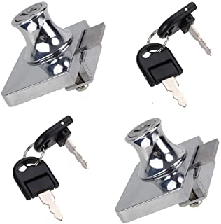 ZXHAO Stainless Steel Glass Display Cabinet Showcase Lock No Drill with Keys 2pcs