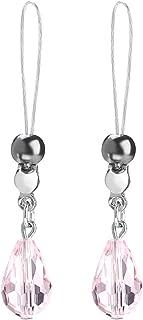 Nipple Shields Jewelry Noose Faceted Teardrop Crystal Black Hematite Adjuster Non Piercing Nipplerings