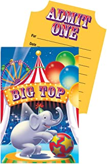 Creative Converting Big Top Birthday 8 Count Pop-Up Party Invitations
