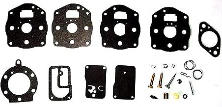Briggs & Stratton B&S Carburetor Carb Rebuild Kit Fits Models 42E707 42E777 460707 Replaces Briggs OEM# 394502, 491539, 694056 Stens 520-080