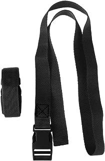 SM SunniMix 2 Pieces Adjustable Golf Trolley Bag Straps Webbing Fastener Belt & Quick Release Buckle Clip - 5 Colors to Select