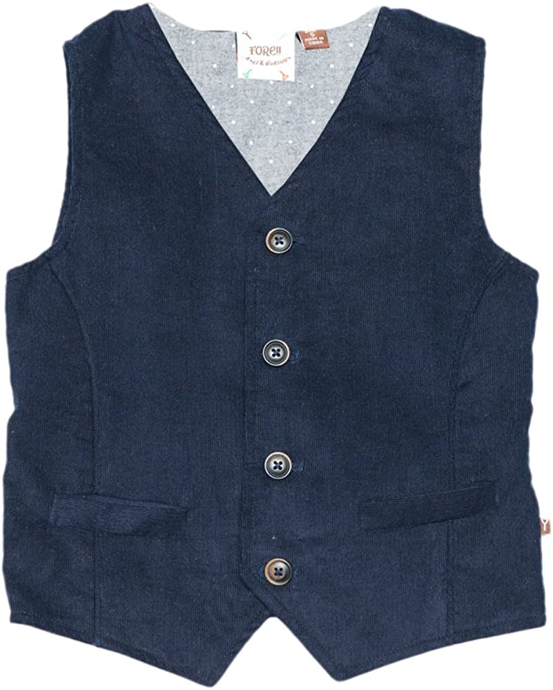 FORE!! Little Boys' Corduroy Flannel Dotted Vest