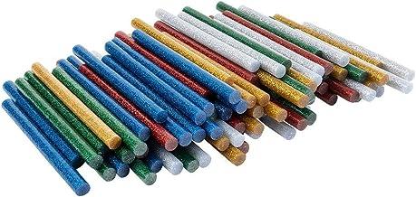 Universele lijmpatronen voor hete lijmpistolen | hete lijmsticks | Ø 7 mm | 10 cm lang | 100 stuks (5 kleuren met glitter...