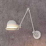 Lámpara de pared ajustable de estilo industrial tipo loft clásico, apliques de pared vintage, luminaria led para sala de estar, dormitorio, luz de pasillo de escalera