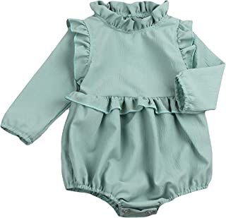 d34f568bad8c YOUNGER TREE Toddler Baby Girl Ruffled Collar Sleeveless Romper Jumpsuit  Clothes