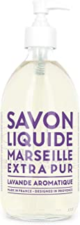 Compagnie de Provence Savon de Marseille Extra Pure Liquid Soap - Aromatic Lavender - 16.9 Fl Oz Glass Pump Bottle
