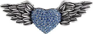 Austrian Crystal Victorian Style Love Heart Angel Wing Stunning Brooch