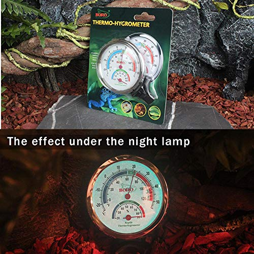 D.ragon Reptile Thermometer Hygrometer Nachtlicht Zifferblatt Incredible