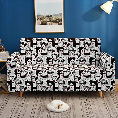 Fundas de sofá Elásticas deMascotas, ,Funda de sofá con patrón de repetición 3D, estiramiento elástico para sala de estar, funda de sofá, funda de sillón, 1/2/3/4 plazas-BIX17_1-asiento 90-140cm