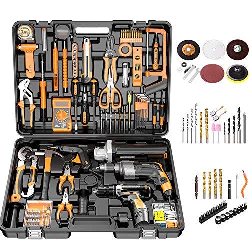 Conjunto de caja de herramientas, caja de herramientas universal multifuncional de mantenimiento,...