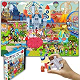 """Think2Master Amusement Park 100 Pieces Jigsaw Puzzle Fun Educational Toy for Kids, School & Families. Great Gift for Boys & Girls Ages 4+ to Stimulate Learning. Size:23.4"""" X 16.5"""""""