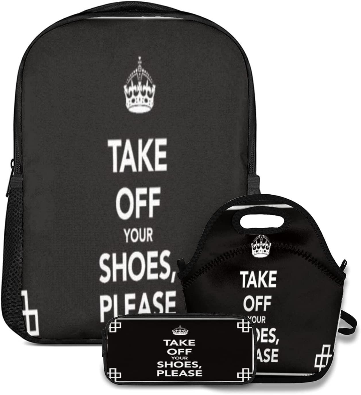 Backpack Lunch tote Bag and SEAL limited product Pencil Crown 3pc TAK Topics on TV Simple Case set
