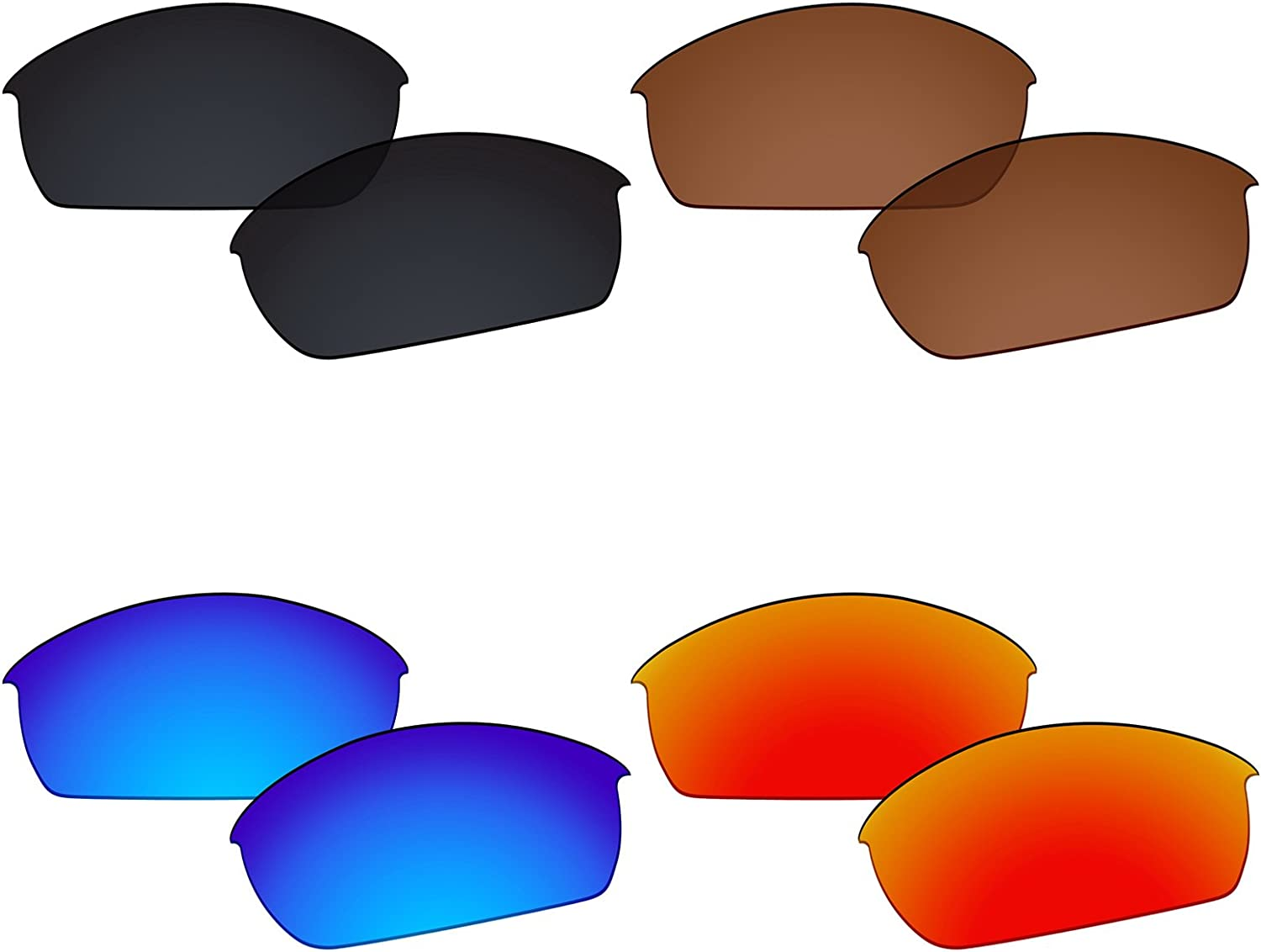 Galvanic 4 Pairs Polarized Our shop OFFers the Outlet ☆ Free Shipping best service Replacement Lenses Flak for Oakley Ja