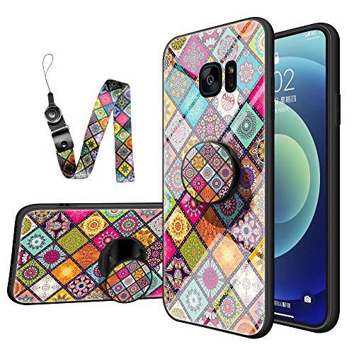 TYWZ - Carcasa de cristal para Samsung Galaxy S7 Edge, diseño de...