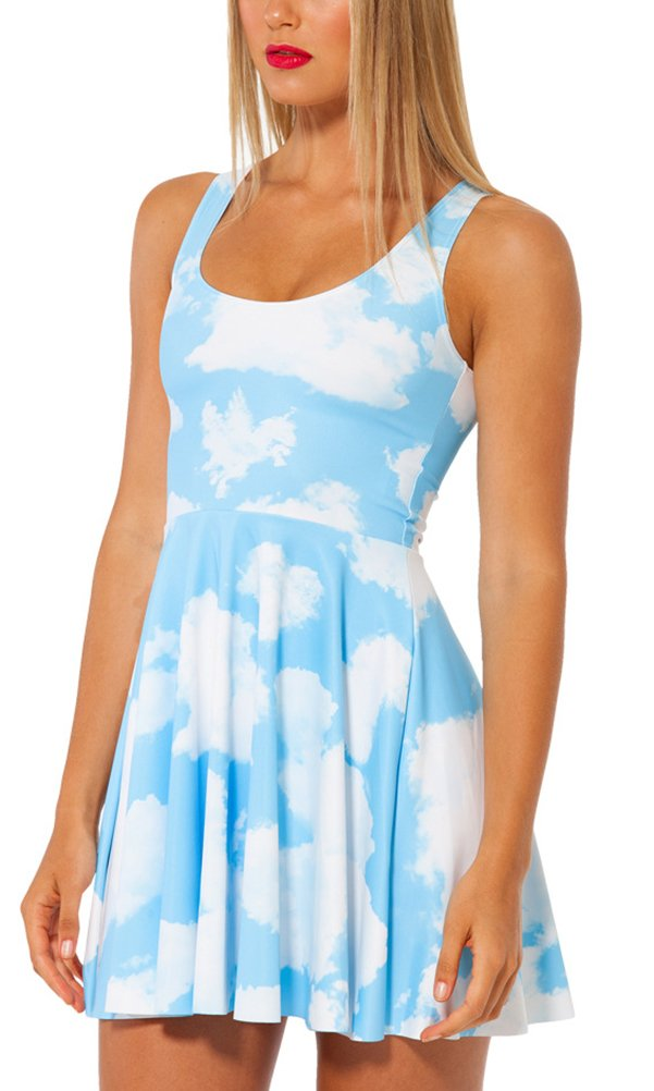 Available at Amazon: QZUnique Women's Printed Stretchy Sleeveless Pleated Fit and Flare Skater Dress