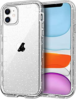 iPhone 11 Case, Anuck Crystal Clear 3 in 1 Heavy Duty Defender Shockproof Full-body Protective Case Scratch Resistant Hard PC Shell & Soft TPU Bumper Cover for Apple iPhone 11 6.1