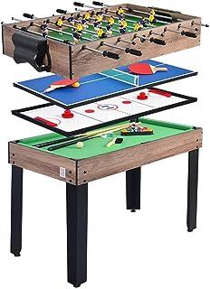 BEANFAN 4 en 1 Multifuncional Futbolín Mesa de la máquina de Billar Ping-Pong de Hockey sobre Hielo (Tamaño: 103x58x71cm)