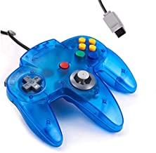Classic N64 Controller Funtastic Ice Blue Clear Turquoise Retro Wired Game Pad Console Joystick for N64 Video Console 64 S...
