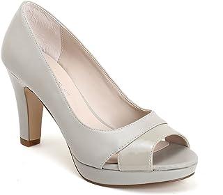 buy online 94f5c 08eb0 Amazon.it: GRIGIO PERLA - 8 - 12 cm / Scarpe da donna ...