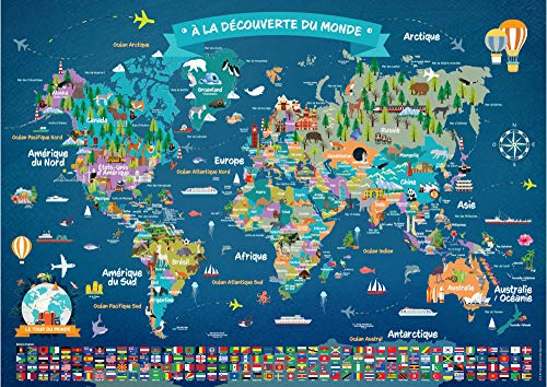 Poster Carte du Monde pour Enfant