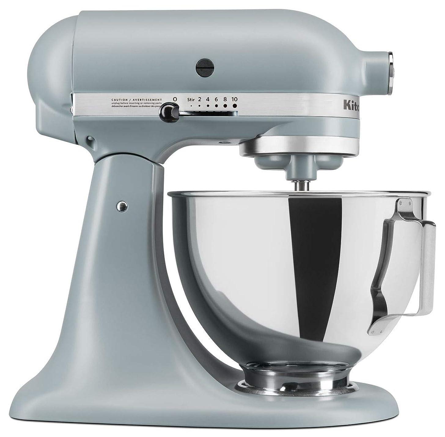 KitchenAid RRK150MF Artisan Series 5-Qt. Stand Mixer - Matte Fog Blue (Renewed) ??…