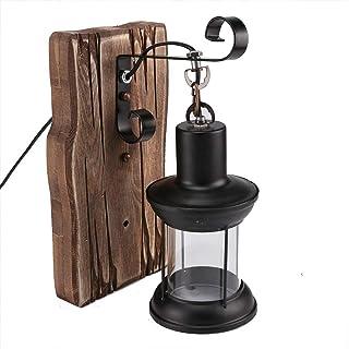 HaavPoois Lámpara de Pared de Vidrio Retro, 1 Pieza Lámpara de Pared de Diseño Industrial Vintage para Hogar Interior Restaurante Bar Dormitorio Corredor Decorar (Sin Bombilla)