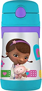 THERMOS Vacuum Insulated Stainless Steel 10-Ounce Straw Bottle, Doc McStuffins