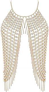 comprar comparacion BlueSpace - Collar-bikini, cadena para mujer que funciona también como la parte de arriba del bikini, sexy, cadena de suje...