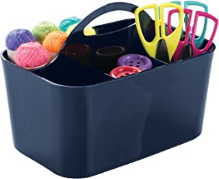 mDesign Storage Case in Navy for Craft Supplies - Great Alternative to the Craft Kit - Perfect as an Arts and Crafts Stora...
