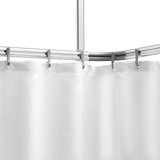 Sealskin Easy Roll Juego de Barra Angular, Raíl para Cortina de Ducha, Metal, Aluminio Mate, 2,8x90x1,6 cm
