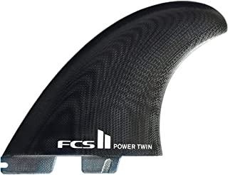 FCS II Power Twin Fin Set Plus Stabilizer - Black
