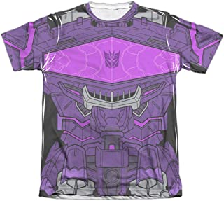 Transformers Shockwave Costume Unisex Adult Front Only Poly/Cotton Sublimated T Shirt for Men and Women