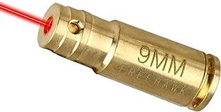 Boresight Laser 9mm/Bore Sight , FreehawkOriginal Accurate Red Dot 9mm Brass Cartridge Rifle Scope Laser Bore Sighter Boresighter,Outdoor Hunting Shooting