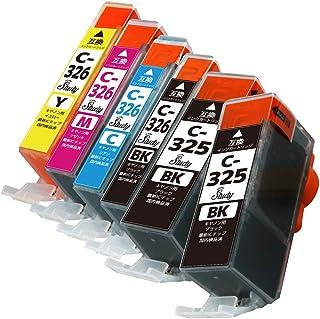 BCI-326(BK/C/M/Y)+325BK×2 キヤノン用インクカートリッジ 5色+BK 計6本 マルチパック 互換インク (最新ICチップ搭載/残量検知対応/デジタル説明書付き(QR)) 対応機種: PIXUS MG8230 PIXUS ...