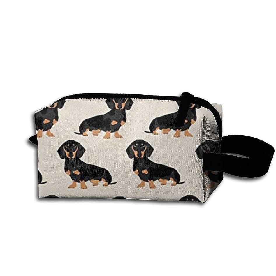 北西国勢調査シールドWiener 犬用ファブリック Doxie ダックスフンド ウェイナー 犬 ペット 犬 旅行 メイクアップ コスメティック ポーチ メイクアップ 旅行バッグ 財布 女性 女の子
