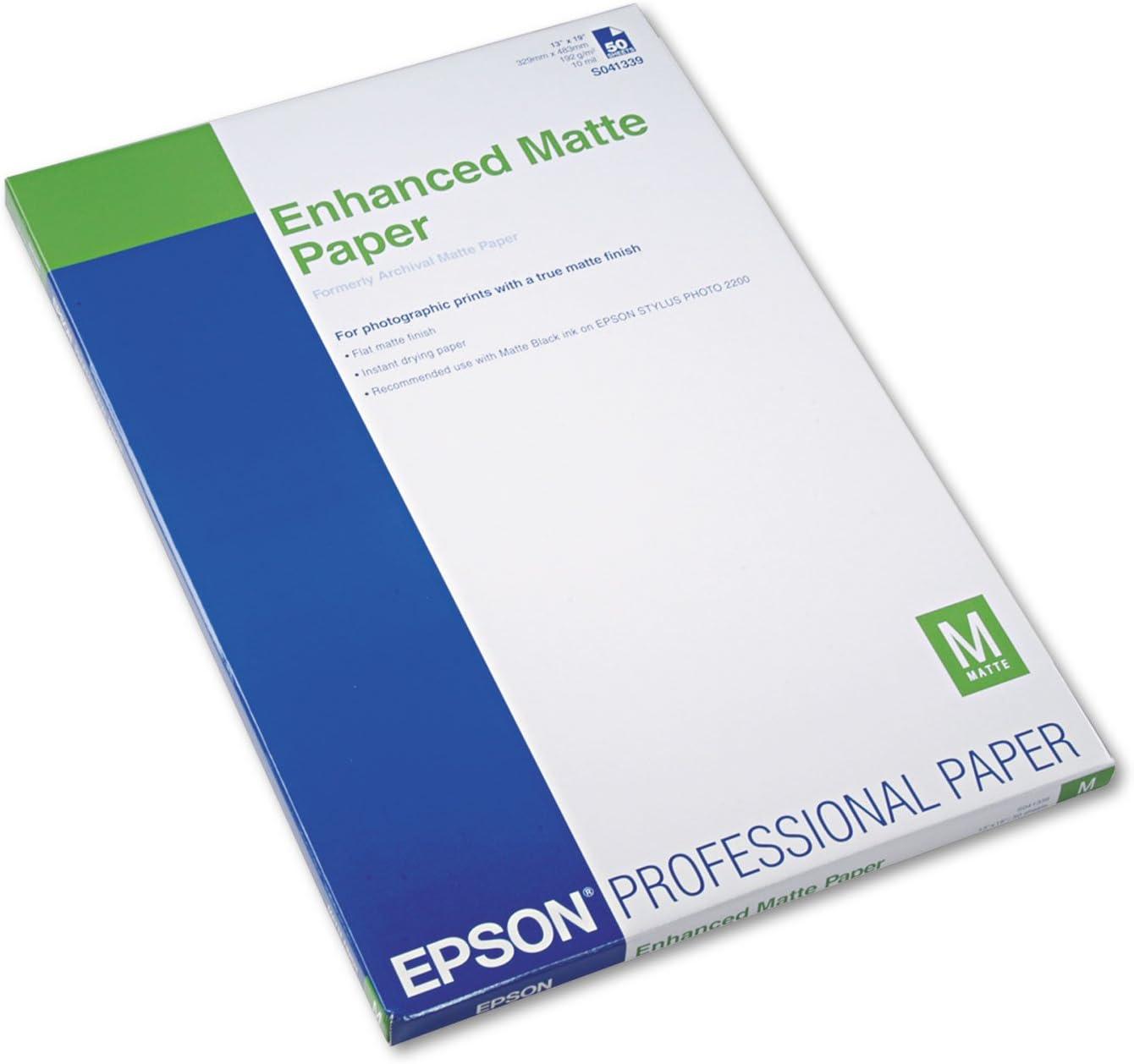 Fashion Epson Enhanced Matte Paper 50 S041343 sheets lowest price A3 - 11.7x16.5