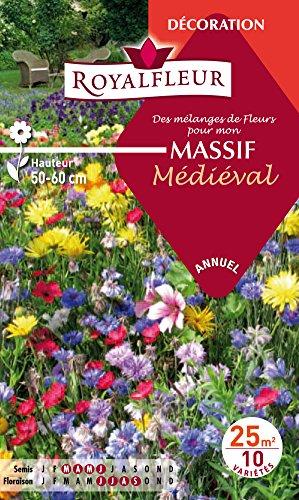Royalfleur PFRF08338 Graines de Mélange de Fleurs mon Massif Médiéval 25 m²