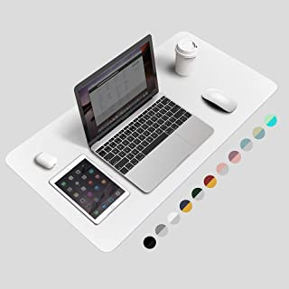 BUBM Desk Pad Protector Office Desk Mat, Waterproof PU Leather Desk Writing Mat Laptop Large Mouse Pad Desk Blotters Desk ...
