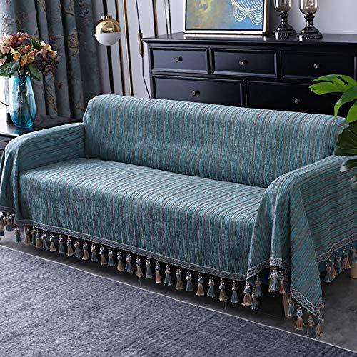 TIYKI Hanging Spike Couch Slipcover,Elástica Funda De Sofá,Protector De Muebles para Perros Mascotas,1 Piezas Couch Sofa Shield-Azul. 190x380cm(75x150inch)
