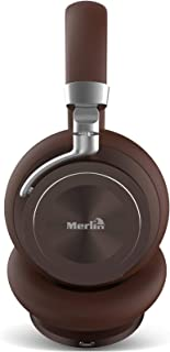 Merlin Virtuoso ANC Premium - Active Noise Cancelling Over Ear Headphones with HiFi Stereo, Deep Bass, Noise Canceling Microphone & Comfortable Fitting Earpads & Compatible with all Smart Devices.