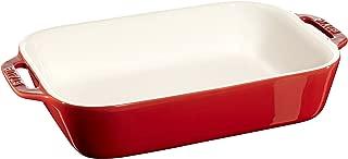 Staub 40508-590 Ceramics Rectangular Baking Dish, 10.5x7.5-inch, Cherry