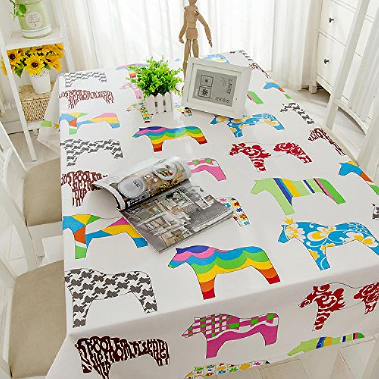 Jhxena Im Japanischen Stil Tischdecke Baumwolle Cafe Und Tee Table Cover Tuch, Pferde, 80  140 cm B072VDK9X8 Creative | Zarte