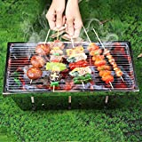 AAGYJ Griglia per Barbecue a Carbone all'aperto, Griglie per Barbecue indipendenti, Griglia per Barbecue per Fumatori, Griglie per braciere e Cucina
