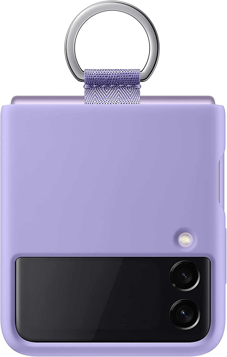 Samsung Galaxy Z Flip 3 Phone Case, Silicone Protective Cover with Ring, Heavy Duty, Shockproof Smartphone Protector, US Version, Lavender