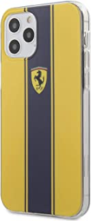 Ferrari On Track PC/TPU Hard Case with Navy Stripes for iPhone 12 Pro (6.1 inches) Yellow, Green, FESTPIHCP12MYE