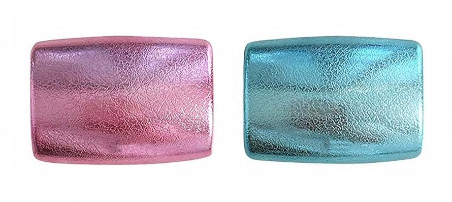 悲しみ本会議ご注意2個のコンタクトレンズケースポータブルアイレンズケースプラスチック、ブルーとピンク